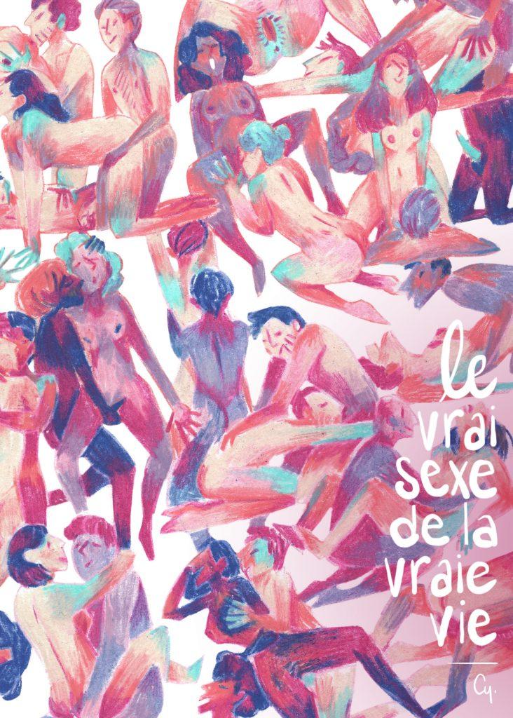 La couverture du Vrai sexe de la vraie vie de Cy, éditions Lapin, éducation diversité