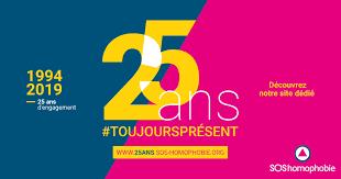 Affiche pour les 25 ans de SOS Homophobie