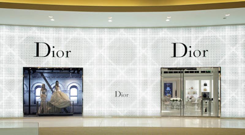 A view of the Dior Corner in Dubai Mall