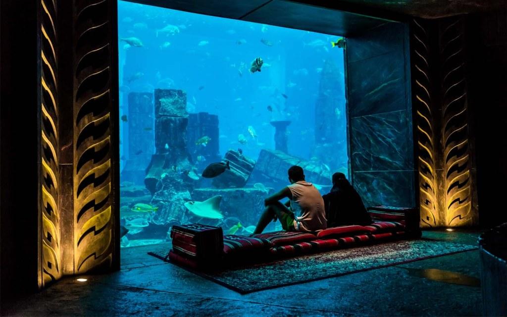 View of Atlantis Aquarium in Dubai