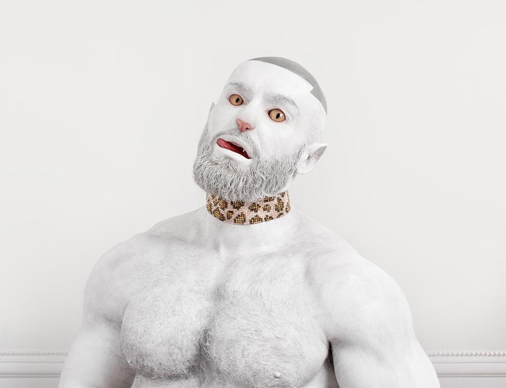 Une photographie de Jonathan Icher avec François Sagat comme modèle, série Animagus,  2017