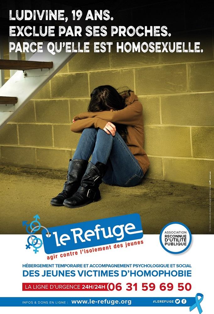 L'une des campagnes de publicité du Refuge en faveur des droits des jeunes LGBTQI+