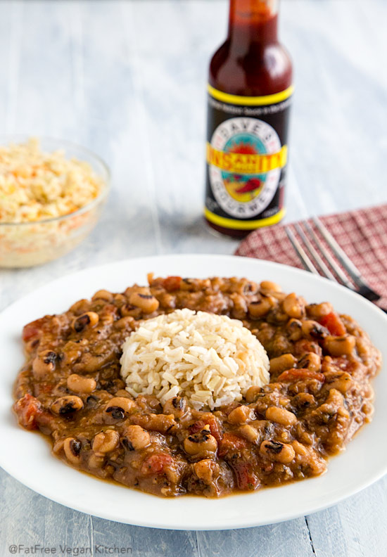 These Creole Black-eyed Peas are creamy, spicy, and delicious--as well as low-fat and vegan.