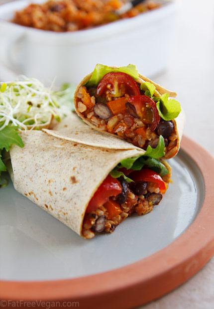 Burritos with Spanish Rice