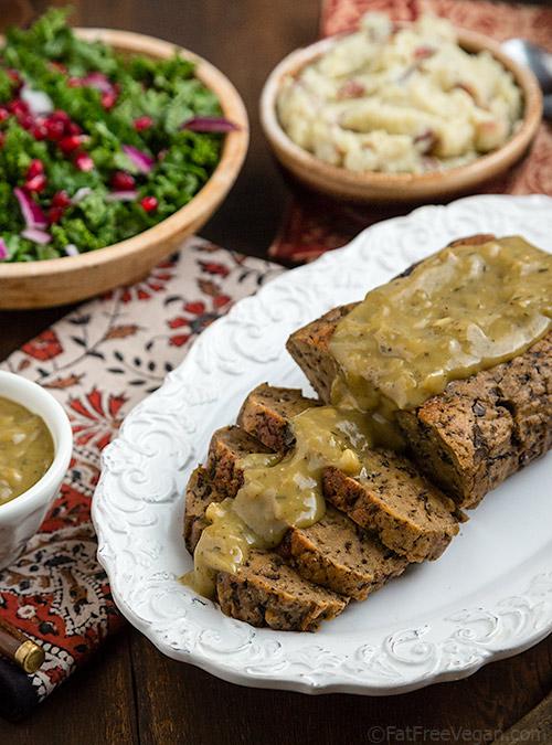 Mushroom Seitan Roast | Recipe from FatFree Vegan Kitchen