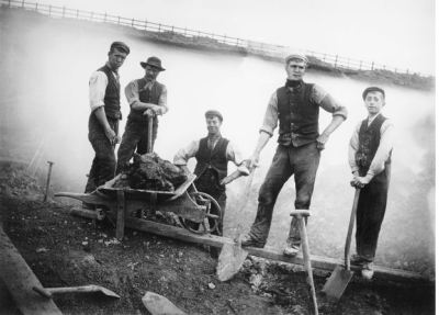 Industrial revolution powered by the muscles and lives of men - Railway Navvies Photo