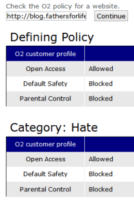 O2 website status for dads & things