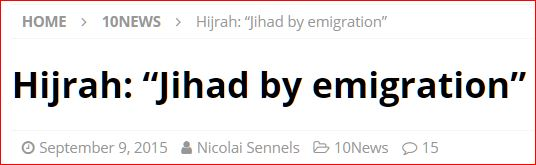 Hijrah: Jihad by emigration 10News DK