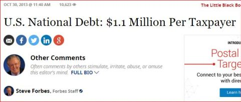 Already in 2013, the size of the U.S. national debt was frightening.