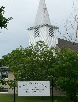 The old Bruderheim Church was turned into a museum