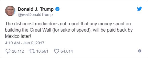 Funding the wall at the border, down Mexico-way