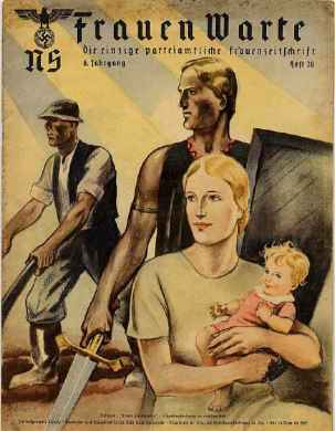 National-socialism reflected in NS-feminism, women as the spiritual centres of families and the givers of life, men as providers and protectors of women — The name of the Periodical, Women Lookout, can have a number of meanings in the context.