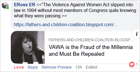 VAWA is the Fraud of the Millennia and Must Be Repealed