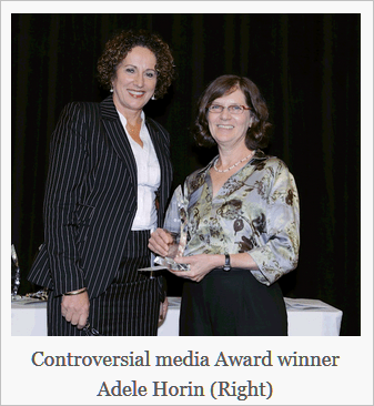 Controversial media award winner Adele Horin