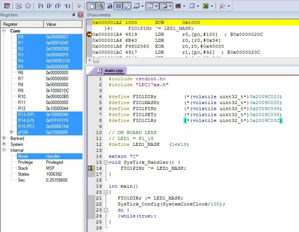 Native C/C++ Application development for the mbed using CMSIS-DAP