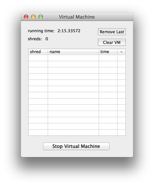 Virtual Machine Monitor Window