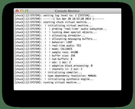 ChucK Console Monitor