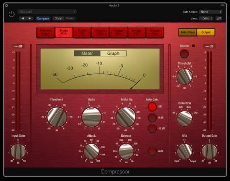 Logic Pro X Studio VCA Compressor