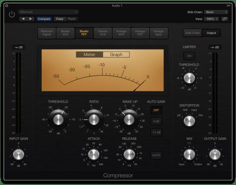Logic Pro X Studio FET Compressor