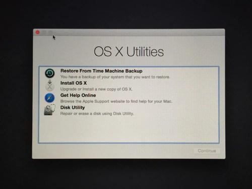 OSX Yosemite Partizione di Ripristino