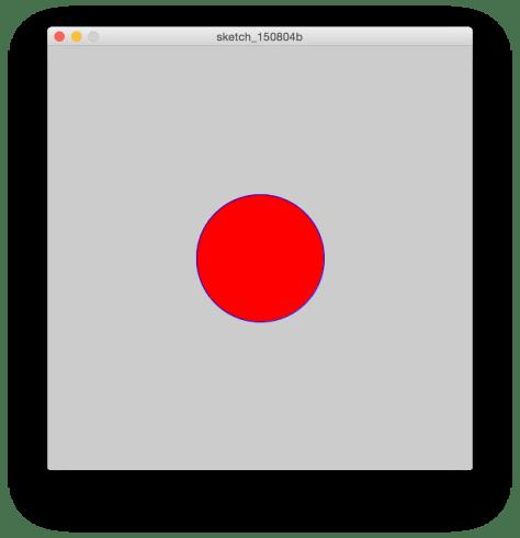 Cerchio rosso con bordo blu