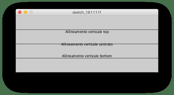 textAlign() verticale: top, center, bottom