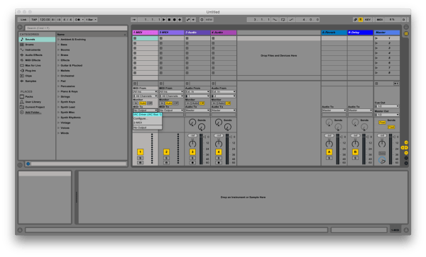 Ableton MIDI Out Tracks