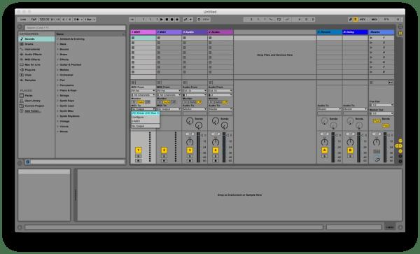 Ableton MIDI Out Tracks