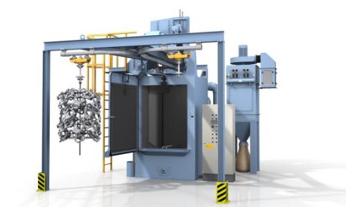 Machine-de-grenaillage-a-charge-suspendue /grenailleuse