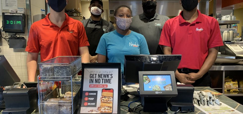 The friendly Newk's Staff at the Counter