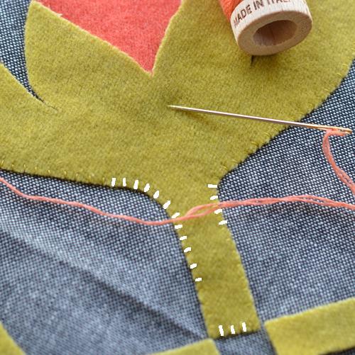 Turning stitches