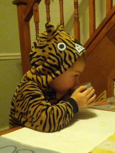 The tiger who came to breakfast