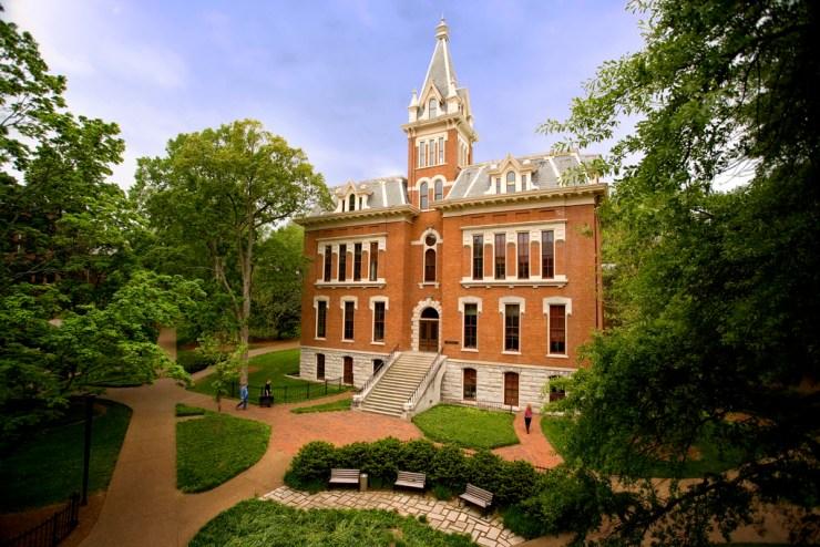Vanderbilt Campus Shots from treetop level Benson Science Hall spire and exterior photographs (Vanderbilt Photo /  Daniel Dubois)