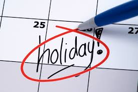 public holidays on non-working days