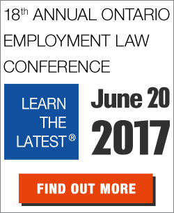 Join Stringer LLP and First Reference at the 18th annual Ontario Employment Law Conference