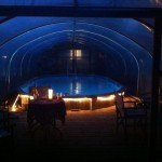 Swimming Pool Inside a Polytunnel