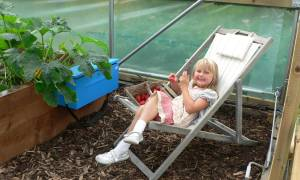 April in the Polytunnel…
