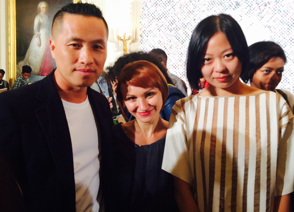 Designer and mentor Phillip Lim, Natalya and Chelsea Chen at the White House
