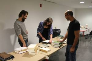 Slavko Djuric and AJ Springer with Harlem Studio Museum featured artist Samuel Levi Jones