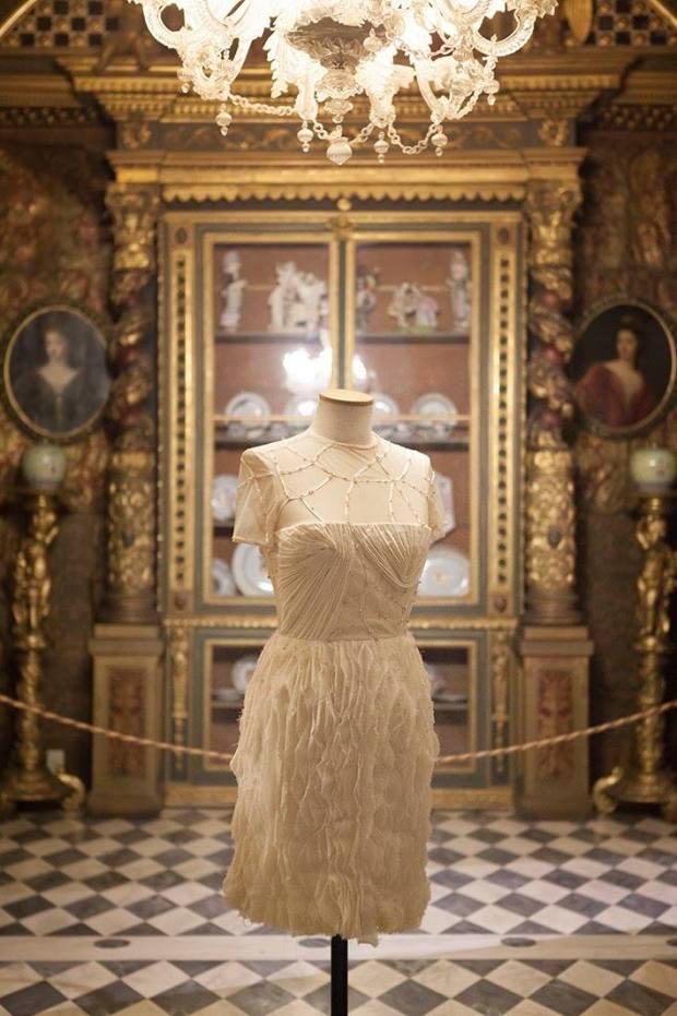 Ephie's dress on display.