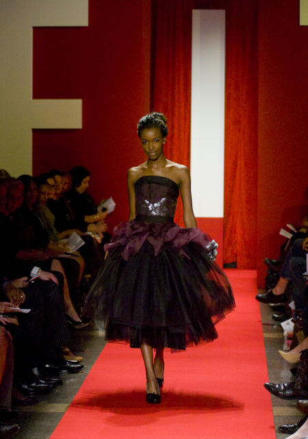 My dress going down the runway