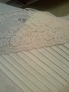 """new"" antique lace and my attempt at pintucking"