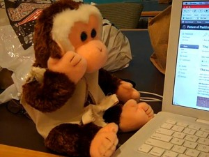 I'm writing, Lil' Humphrey, I'm writing! He can hardly contain himself.