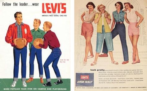 2 Levi's 1950's ads