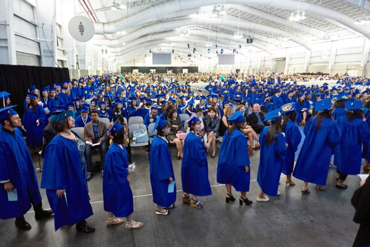 Students Line Up to Walk the Stage