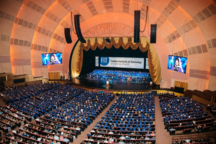 wide shot of Radio City Music Hall auditorium