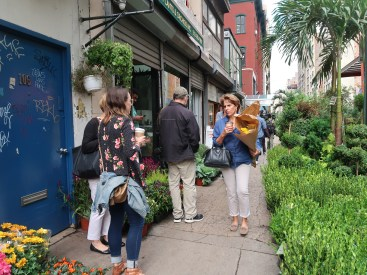 people looking at plants along 28th street