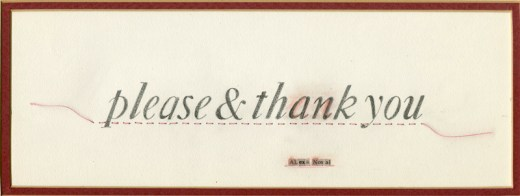 illustration of the words please and thank you
