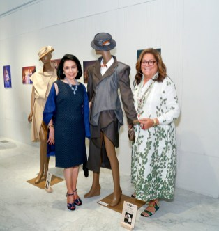 dr brown and fern mallis with mannequins
