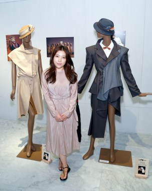 student with mannequin